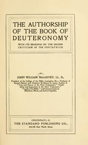 The authorship of the book of Deuteronomy