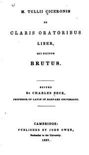 Cover of: Brutus | Cicero