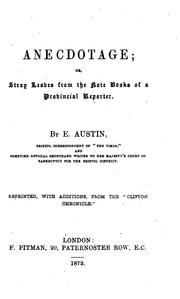 Cover of: Anecdotage by E. Austin