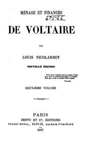 Cover of: Ménage et finances de Voltaire by Louis Nicolardot