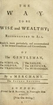 Cover of: The way to be wise and wealthy by J. S.