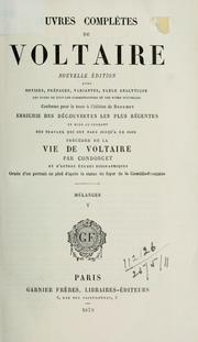 Cover of: Oeuvres complètes de Voltaire | Voltaire