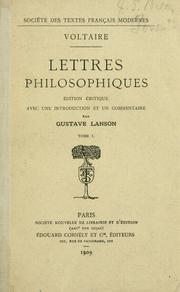 Cover of: Lettres philosophiques | Voltaire