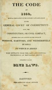 Cover of: Laws, etc. (Compiled statutes : 1650) | Connecticut.