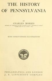 Cover of: The history of Pennsylvania | Morris, Charles