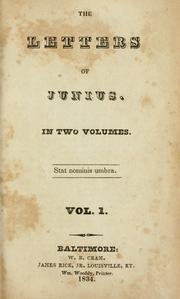 Cover of: Correspondence by Junius