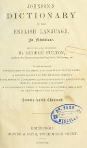 Cover of: A dictionary of the English language by Samuel Johnson