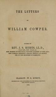 Cover of: Letters of William Cowper by Cowper, William