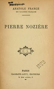 Cover of: Pierre Nozière by Anatole France