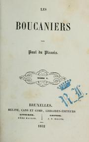 Cover of: Les boucaniers | Paul Duplessis