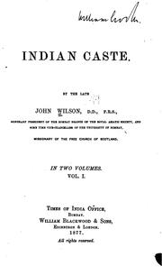 Cover of: Indian Caste | John Wilson