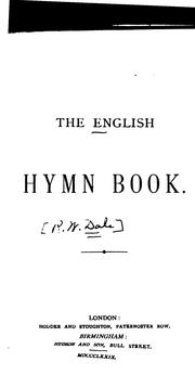 Cover of: The English Hymn Book by Robert William Dale