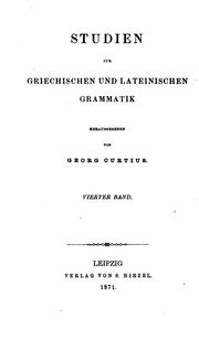 Cover of: STUDIEN by GEORG CURTIUS