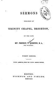 Cover of: Sermons Preached at Trinity Chapel, Brighton by Frederick William Robertson