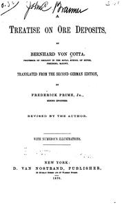 Cover of: A Treatise on Ore Deposits by Bernhard Von Cotta