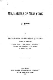 Cover of: Mr. Barnes of New York: A Novel by Archibald Clavering Gunter