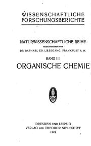 Cover of: Organische Chemie by Rudolf Pummerer