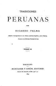 Cover of: Tradiciones peruanas by Ricardo Palma
