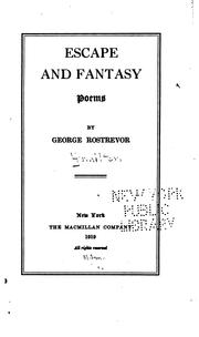 Cover of: Escape and Fantasy: Poems by George Rostrevor Hamilton