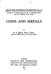 Cover of: Coins and Medals | Sir George Francis Hill