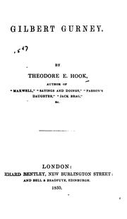 Cover of: Gilbert Gurney by Theodore Edward Hook