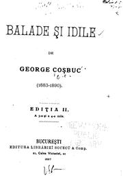 Cover of: Balade și idile by Gheorghe Coșbuc