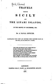 Cover of: Travels Through Sicily and the Lipari Islands, in the Month of December, 1824 by Edward Boid