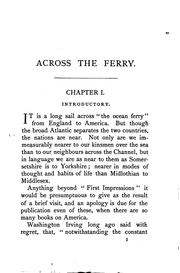 Cover of: Across the ferry: first impressions of America and its people by James Macaulay