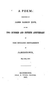 Cover of: A Poem by James Barron Hope