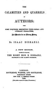 Cover of: The Calamities & Quarrels of Authors by Isaac Disraeli