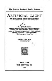Cover of: Artificial Light: Its Influence Upon Civilization by Matthew Luckiesh