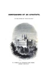 Cover of: Confessions of an apostate, by the author of Felix de Lisle by Anne Flinders