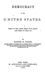 Cover of: Democracy in the United States by Ransom H. Gillet