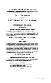 Cover of: The anniversary calendar, natal book, and universal mirror by Anniversary calendar