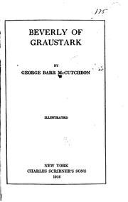 Cover of: Beverly of Graustark by McCutcheon, George Barr