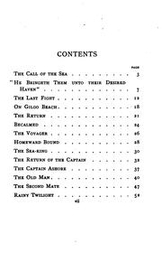 Cover of: The Call of the Sea: And Other Poems by Lewis Frank Tooker