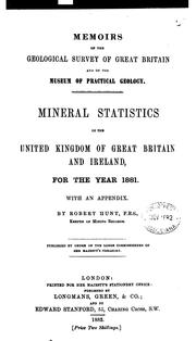 Cover of: Memoirs of the Geological Survey of Great Britain and of the Museum of Practical Geology by robert Hunt