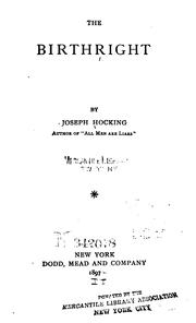 Cover of: The Birthright by Joseph Hocking