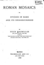 Cover of: Roman Mosaics, Or Studies in Rome and Its Neighborhood by Hugh Macmillan