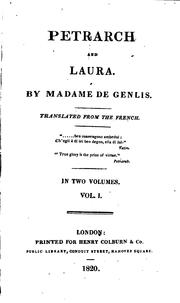 Cover of: Petrarch by Madame De Genlis