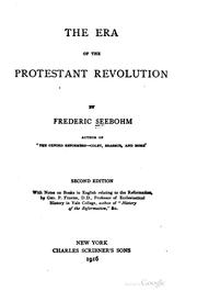 Cover of: The Era of the Protestant Revolution by Frederic Seebohm