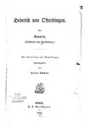 Cover of: Heinrich von Ofterdingen by Novalis