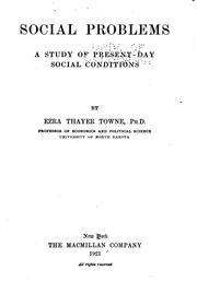 Cover of: Social Problems by Ezra Thayer Towne