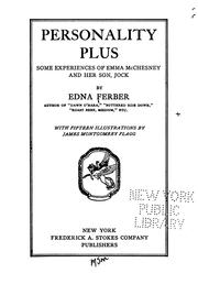 Cover of: Personality Plus: Some Experiences of Emma McChesney and Her Son, Jock by Edna Ferber