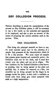 Cover of: The dry collodion process by Charles A. Long
