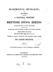 Cover of: Harmonia ruralis; or, An essay towards a natural history of British song birds by James Bolton
