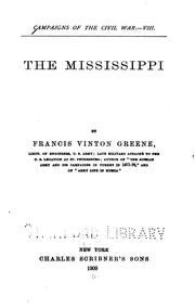 Cover of: The Mississippi by Francis Vinton Greene