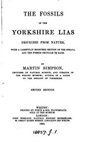 Cover of: THE FOSSILS OF THE YORKSHIRE LIAS by MARTIN SIMPSON