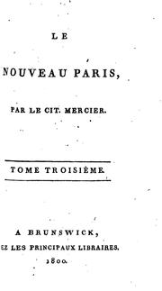 Cover of: Le Nouveau Paris by LE CIT. MERCIER