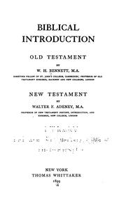 Cover of: Biblical Introduction: Old Testament by William Henry Bennett
